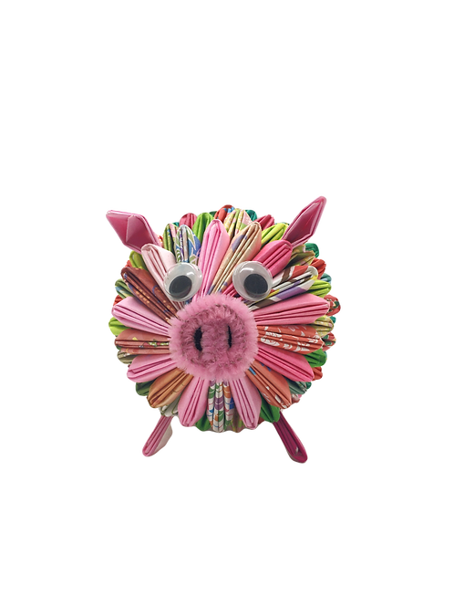 Origami Pig - Multi-Colored