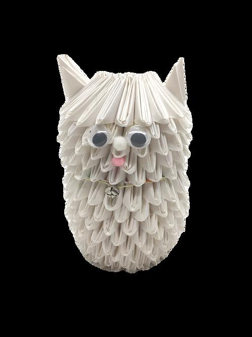 Origami Cat - White