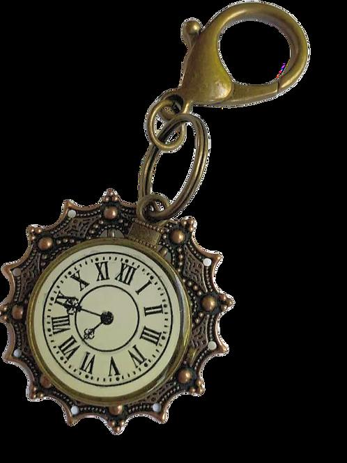 Clock Charm Key Chain