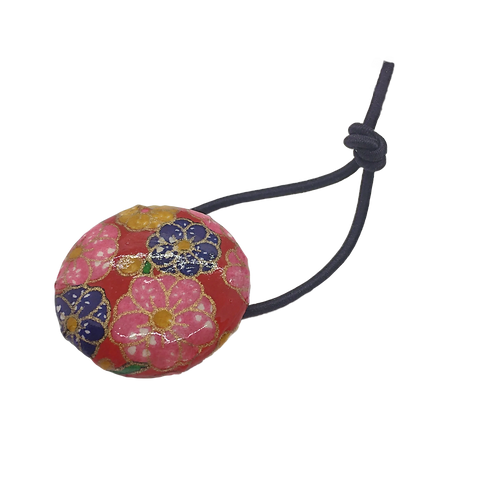 Origami Hair Tie Button - Floral (Large)