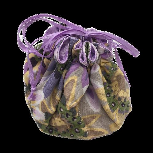 Drawstring Pouch (Medium) - Big Flowers