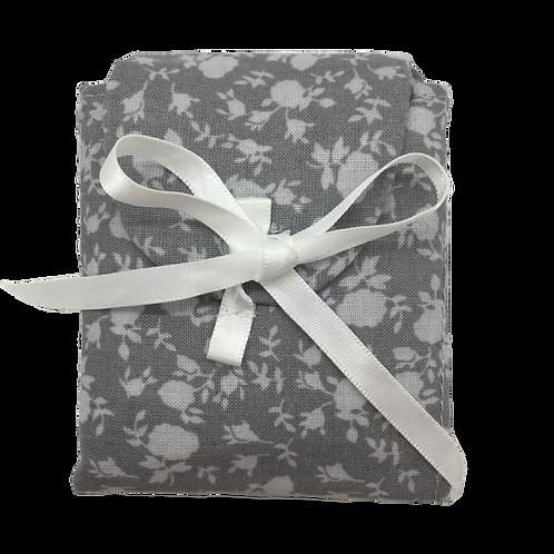 Tea Caddy - Gray Flowers