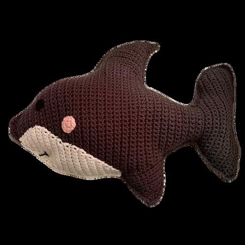 Dark Gray Shark Pillow