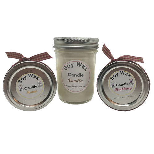 SOY CANDLES (8 oz) - Essential Oil & Scented