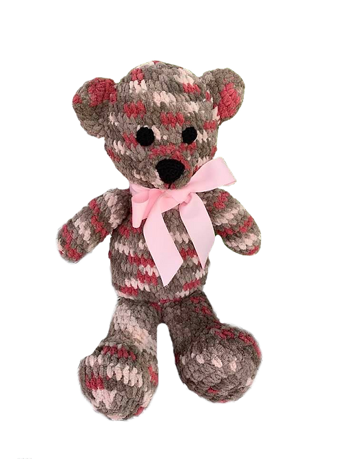 Big Brown & Pink Teddy Bear