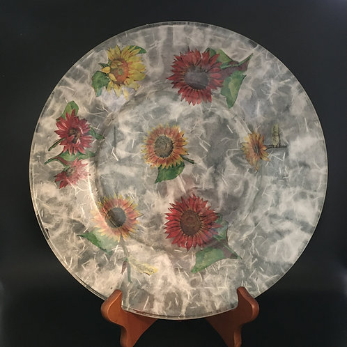 Decoupage Plate - Variety of Flowers