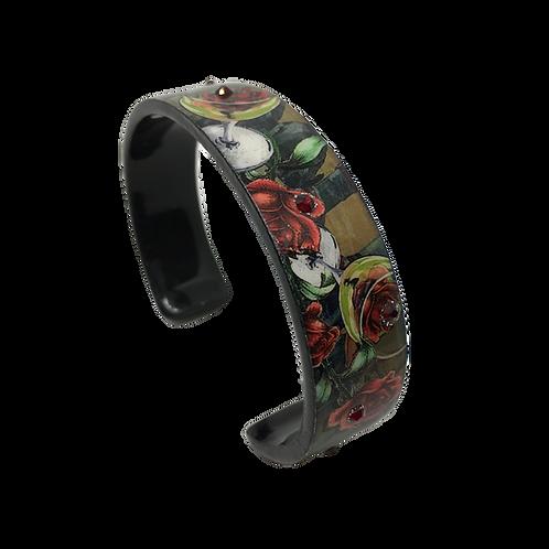 Nano Cuff Bracelet - Wine & Roses