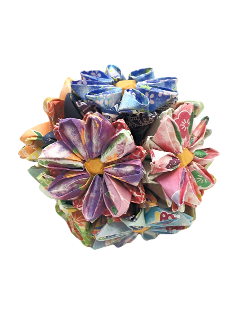 Origami Flower Ball - Multi-Colored
