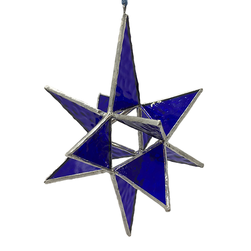 Stained Glass - 3D Blue Star