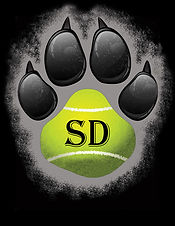 Dog Paw Logo 6 Black with Grey Border co