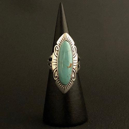 Anel Prata 925 Pedra Turquesa - Clan