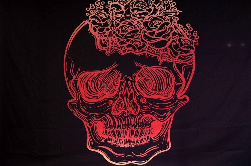 Mandala Bohemia Star Tapestry - Skull