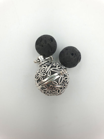 Aromatherapy pendant with Lava Stones (Butterflies)