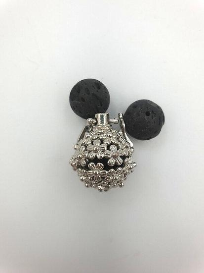 Aromatherapy pendant with Lava Stones (florals)
