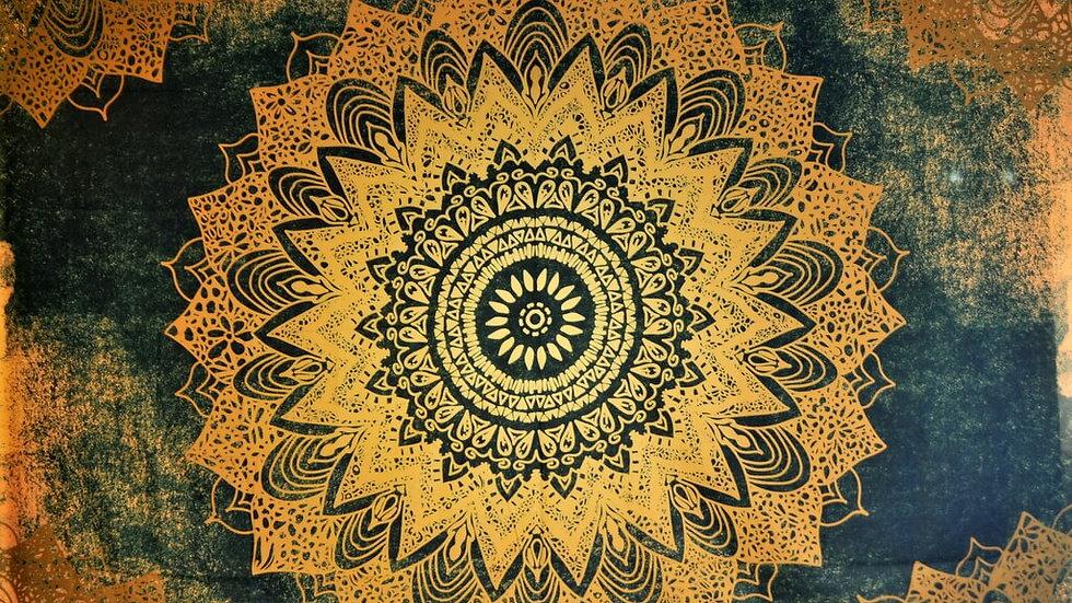 Mandala Bohemia Star Tapestry - M2