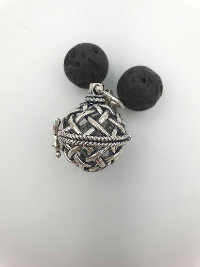 Aromatherapy pendant with Lava Stones (rope)