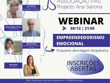 Webinar - EMPREENDEDORISMO EMOCIONAL® enquanto abordagem terapêutica