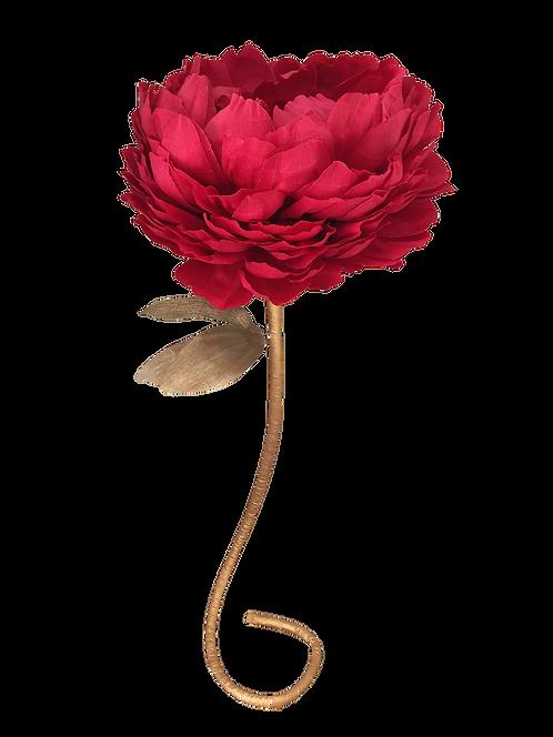 Ruby Red Peony Flower Stem