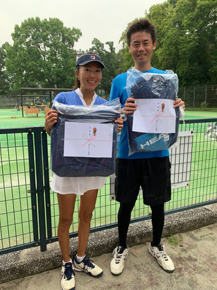 2021年度港区民秋季テニス大会《壮年ミックスダブルス90》準優勝ペア