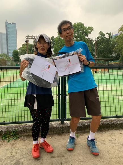 2021年度港区民秋季テニス大会《壮年ミックスダブルス120》準優勝ペア