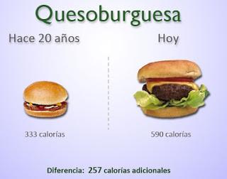 Las porciones de los alimentos