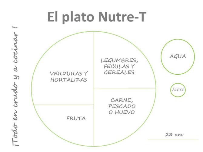 El plato nutre-T, el plato saludable