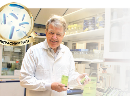 A TRUE PIONEER IN PROBIOTIC RESEARCH IS ELECTED NUTRACHAMPION 2020