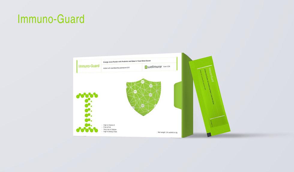 Immuno-Guard Packaging and Sachet Visual