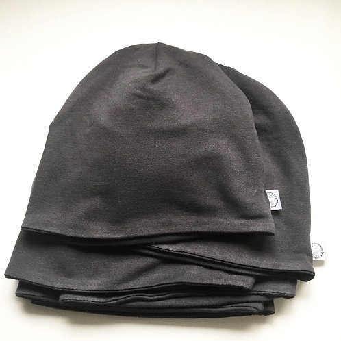 Slouchy Beanie || Charcoal Grey