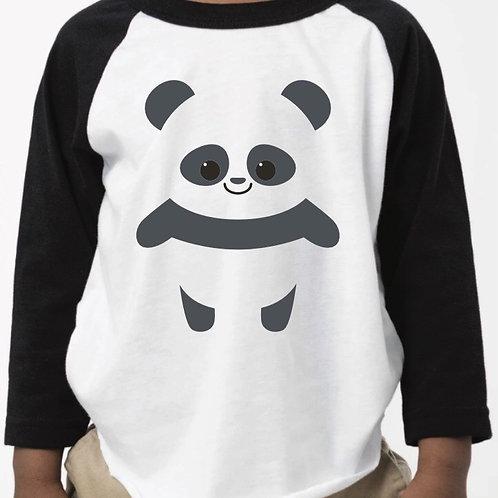 Panda Baseball Raglan