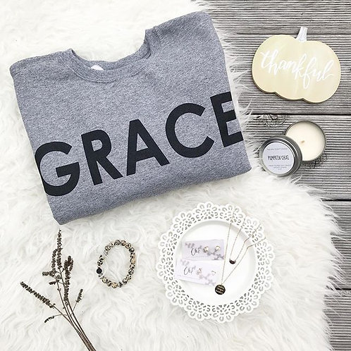 GRACE Adult Grey Pullover