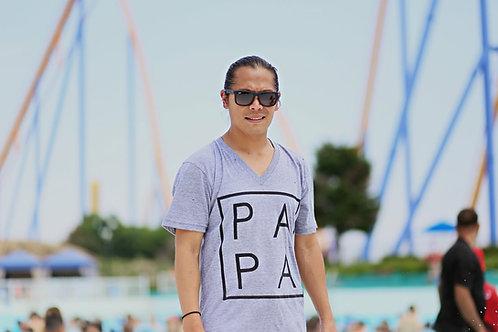 Grey PAPA Men's T-Shirt