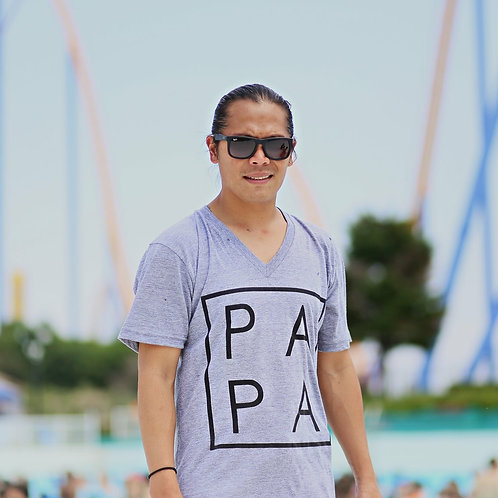 Grey PAPA Men's T-Shirt