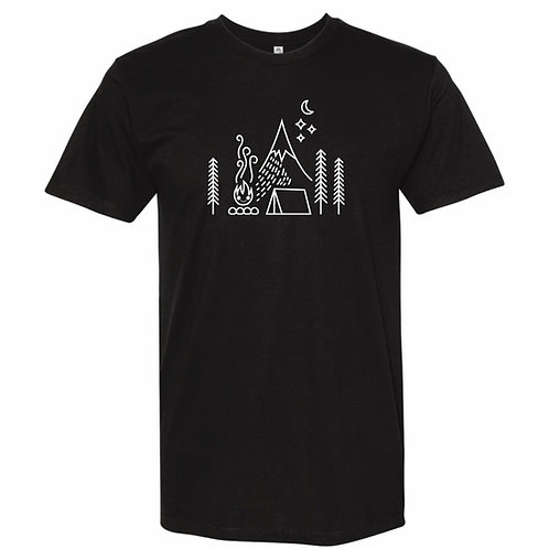 Camping Adult T-Shirt