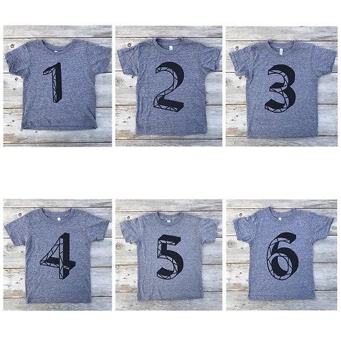 Milestone Number T-Shirts
