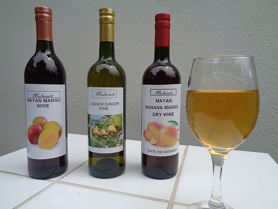 Bottles of Malacate Wine