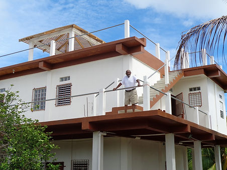 Photo of two story completed home plan at Malacate Beach