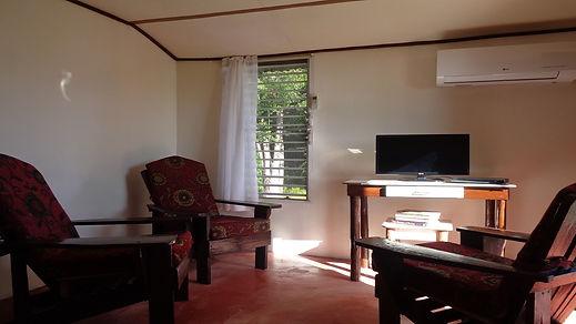 Living Area Guest Cottage Belize Real Estate