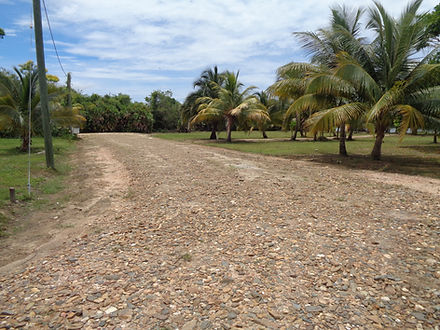 view of road to beachfront lots