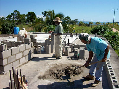 Photo of construction at Malacate Beach