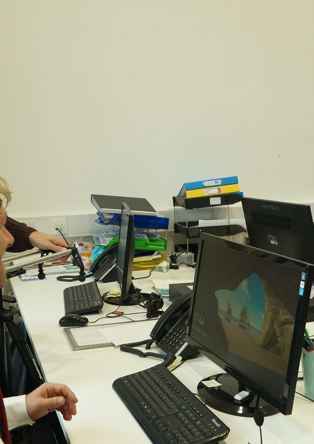 The office scene