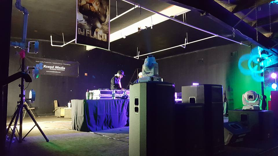 DJ Setup with Xceed Media Banner