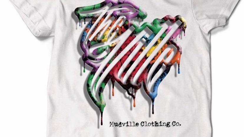 """""""The Ville"""" Colored Drip Logo Tee"""
