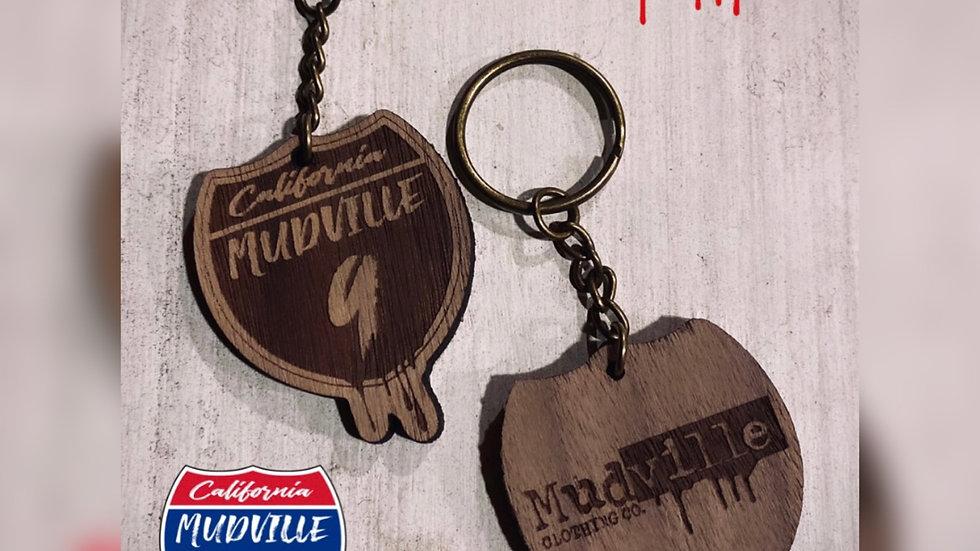 CA Mudville 9 Keychain