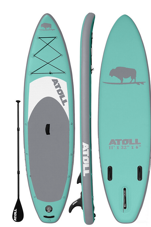 2021  ATOLL 11 ft Inflatable Stand Up Paddle Board, Aquamarine