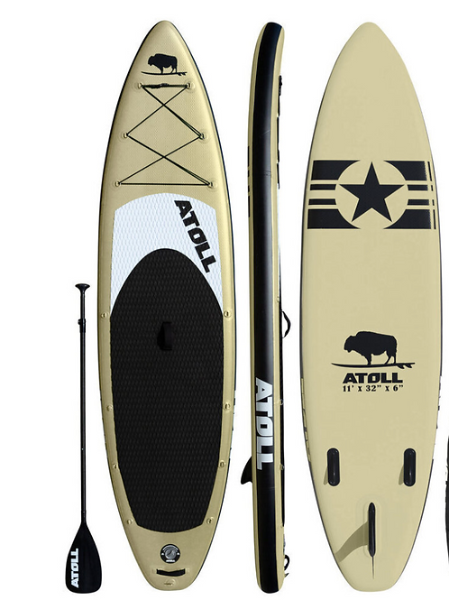 2021  ATOLL 11 ft Inflatable Stand Up Paddle Board, Desert Sand