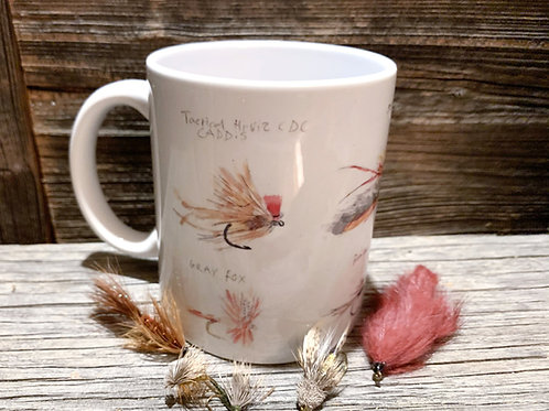 5 Flies and Watercolor fly Mug Gift bundle