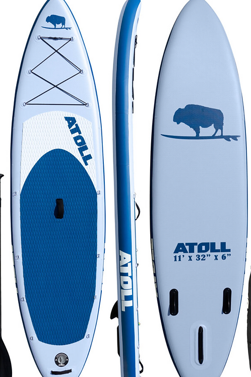2021  ATOLL 11 ft Inflatable Stand Up Paddle Board, Light Blue