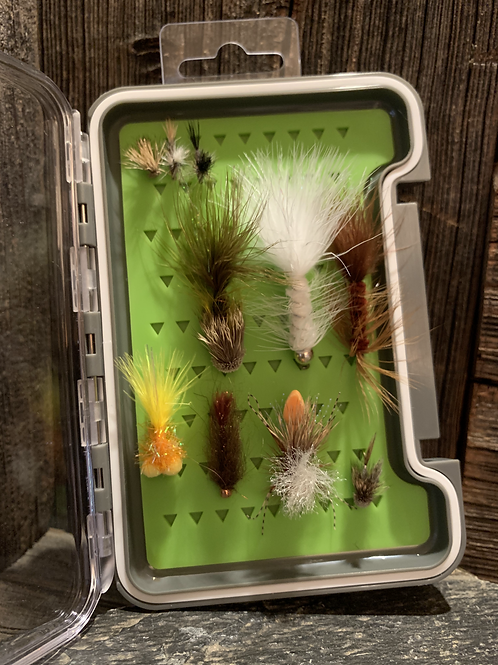 10 Flies in a Fly Box Gift Bundle
