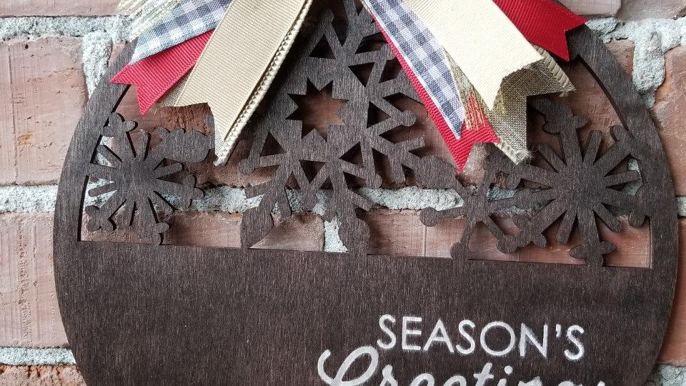 """""""Season's Greetings"""" Sign"""